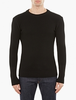 S.N.S. Herning Black Ribbed Wool Sweater