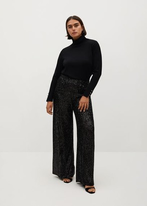 MANGO Sequined palazzo trousers