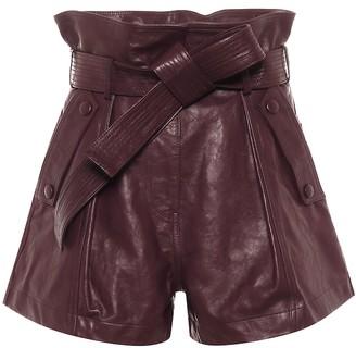 Ulla Johnson Othella leather paperbag shorts
