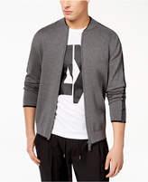 Armani Exchange Men's Zip-Front Cardigan with Logo Taping