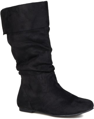 Journee Collection Shelley Slouchy Boot - Wide Calf