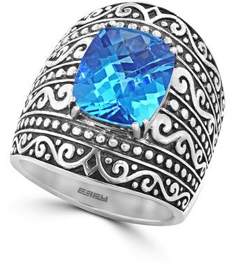 Effy Fine Jewelry Silver 6.95 Ct. Tw. Blue Topaz Ring