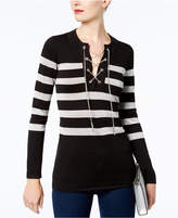 MICHAEL Michael Kors Chain Lace-Up Sweater