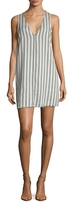 Lucca Couture Stripe Raw Edge Short Dress