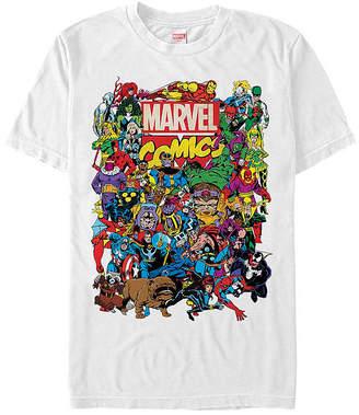 Fifth Sun Classic Comic Group Shot Mens Crew Neck Short Sleeve Avengers Graphic T-Shirt
