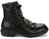 Aquatalia Marcus Shearling & Pebbled-Leather Outdoor Boots