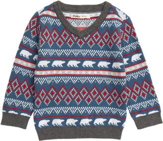 Hatley Fair Isle V-Neck Sweater