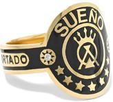 Foundrae - Dream 18-karat Gold, Diamond And Enamel Ring - 5