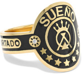 Foundrae - Dream 18-karat Gold, Diamond And Enamel Ring