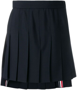 Thom Browne School Uniform Pleated Miniskirt