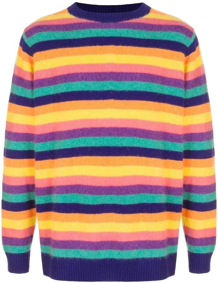 The Elder Statesman Inch Stripe cashmere sweater