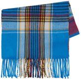 Topman Blue Check Blanket Scarf