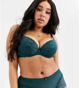 Ann Summers Curve Sexy Lace plunge bra in teal