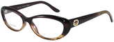 Gucci Brown & Gold Cat-Eye Eyeglasses