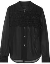 Comme des Garcons Ester Ruffle-trimmed Chiffon Shirt - Black
