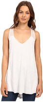 Heather Silk and Jersey Overlap Back Tank Top