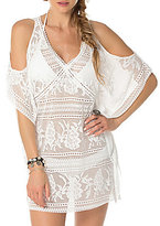 Becca by Rebecca Virtue Prairie Rose Crochet Cold Shoulder Tunic Cover-Up