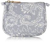 Aerin Beauty - Batik Small Printed Cotton-canvas Cosmetics Case - Sky blue
