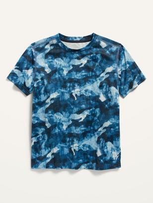 Old Navy Go-Dry Short-Sleeve Camo-Print Mesh Performance Tee for Boys