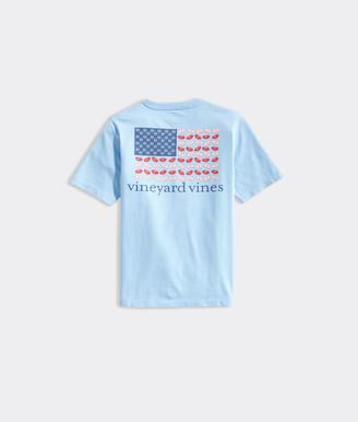 Vineyard Vines Boys' Football Flag Short-Sleeve Pocket Tee