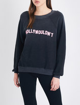 Wildfox Couture Hollywouldn't cotton-blend sweatshirt