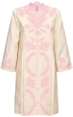 Gucci Linen & Lace Caftan Dress