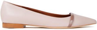 Malone Souliers Maybelle Two-tone Leather Point-toe Flats