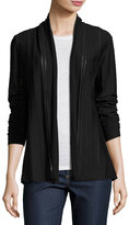 Lafayette 148 New York Shawl-Collar Open-Front Cardigan, Black