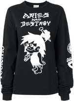 Aries Snar longsleeved T-shirt - women - Cotton - 1