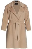 Thumbnail for your product : Marina Rinaldi, Plus Size Trousse Double Wool Wrap Coat