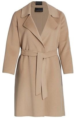 Marina Rinaldi, Plus Size Trousse Double Wool Wrap Coat