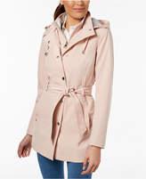 Nautica Belted Hooded Raincoat