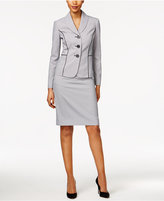 Le Suit Seersucker Skirt Suit