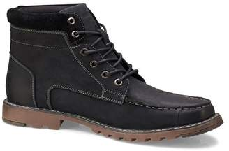 Members Only Moc-Toe Leather Lug Sole Boot