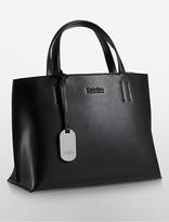 Calvin Klein Platinum Edged Leather Tote Bag