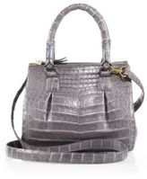 Nancy Gonzalez Crocodile Mini Pliss & #233 Crossbody Bag