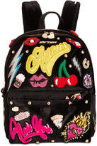 Betsey Johnson Patch Velvet Medium Backpack