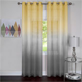 Asstd National Brand Rainbow Grommet-Top Sheer Curtain Panel