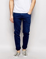Asos Stretch Slim Jeans In Blue