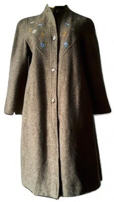 Marella Khaki Wool Coat for Women Vintage