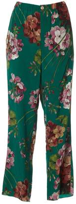 Gucci Multicolour Silk Trousers