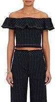 Alexander Wang Women's Pinstriped Cotton Crop Top