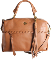 Oryany English Tan Pebble Leather Toni Convertible Satchel