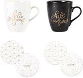 Hello Gorgeous / Hello Handsome Mug & Coaster Set