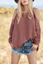 Elan International Sweater With Eyelets