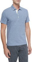 Billy Reid Pensacola Mini-Stripe Polo Shirt, Blue