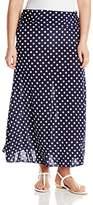 Star Vixen Women's Fold Over Waist Maxi Skirt
