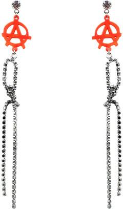 Tom Binns Orange Crystal Earrings