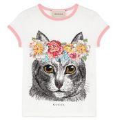 Gucci Little Girl's & Girl's Cat-Print Tee
