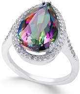 Macy's Mystic Topaz (4 ct. t.w.) and White Topaz (1 ct. t.w.) Ring in Sterling Silver